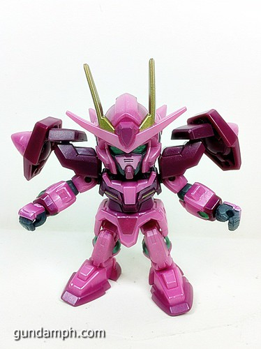 SD Gundam Online Capsule Fighter Trans Am 00 Raiser Rare Color Version Toy Figure Unboxing Review (15)