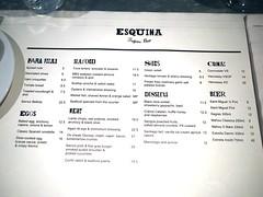 January 2012 Menu, Esquina Tapas Bar, Jiak Chuan Road, Keong Saik, Tanjong Pagar