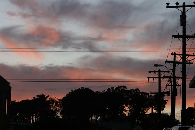 Sunset over Holly Park, Bernal Heights
