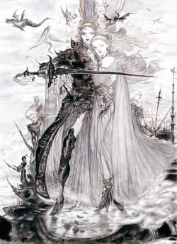 Protagonistas Final Fantasy V Amano