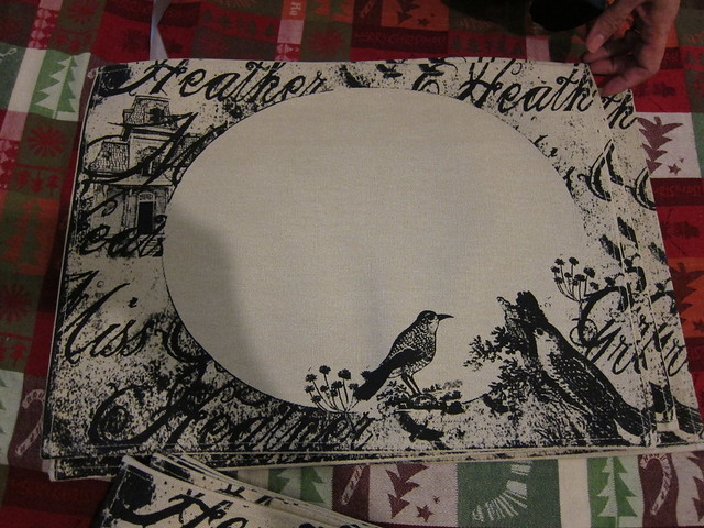 Heather Miss Grey placemats