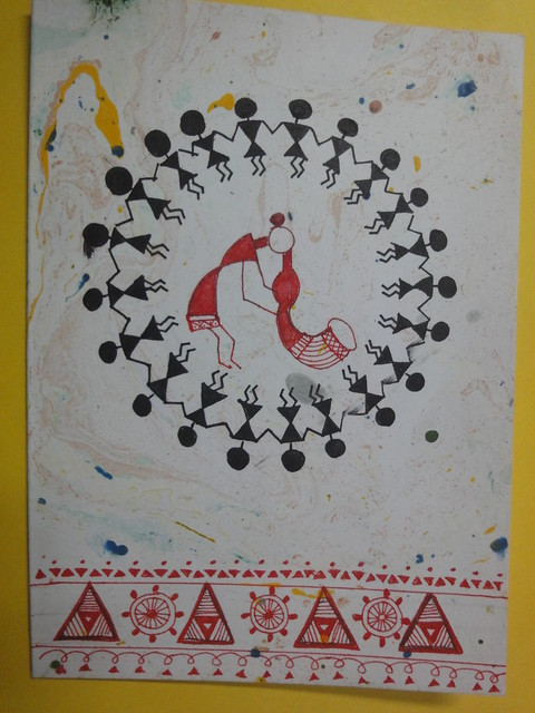 Warli Inspired New year card 1