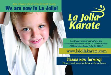 La Jolla Karate-Postcard