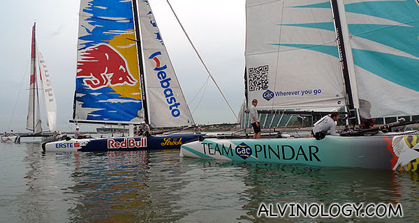 Up close with  Team GAC Pindar and Red Bull Extreme Sailing