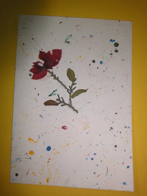 Dried Flower New year Card 4
