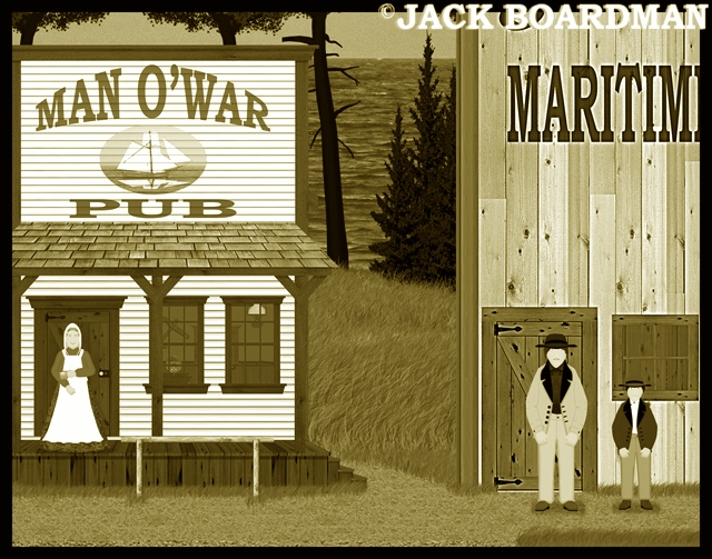 Mrs Miller and the boys worked at the Man O'War & Swenson's