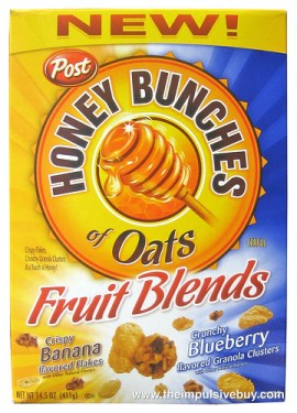 Post Honey Bunches of Oats Banana Blueberry Fruit Blends