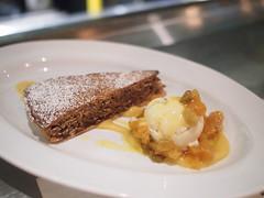 Santiago tart, vanilla ice-cream, apricot raisins. Esquina Tapas Bar, Jiak Chuan Road, Keong Saik, Tanjong Pagar