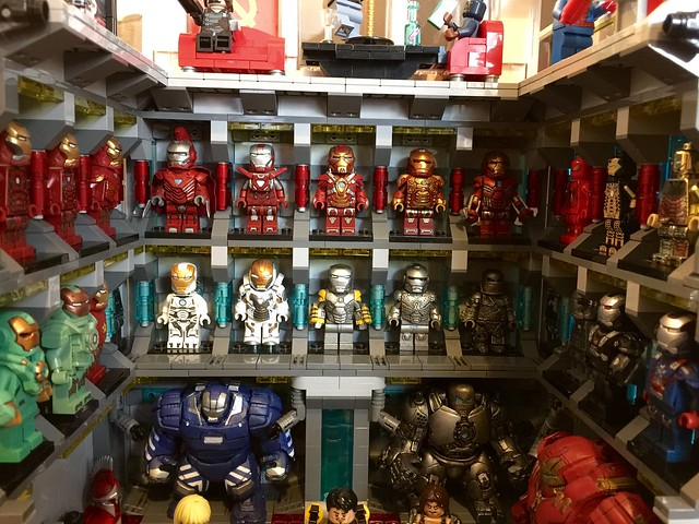 Amazing LEGO Iron Man lab shows all of Iron Man s suits   The     Lego Ironman Lab