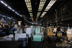 World famous Tsukiji Fish Market, 築地市場