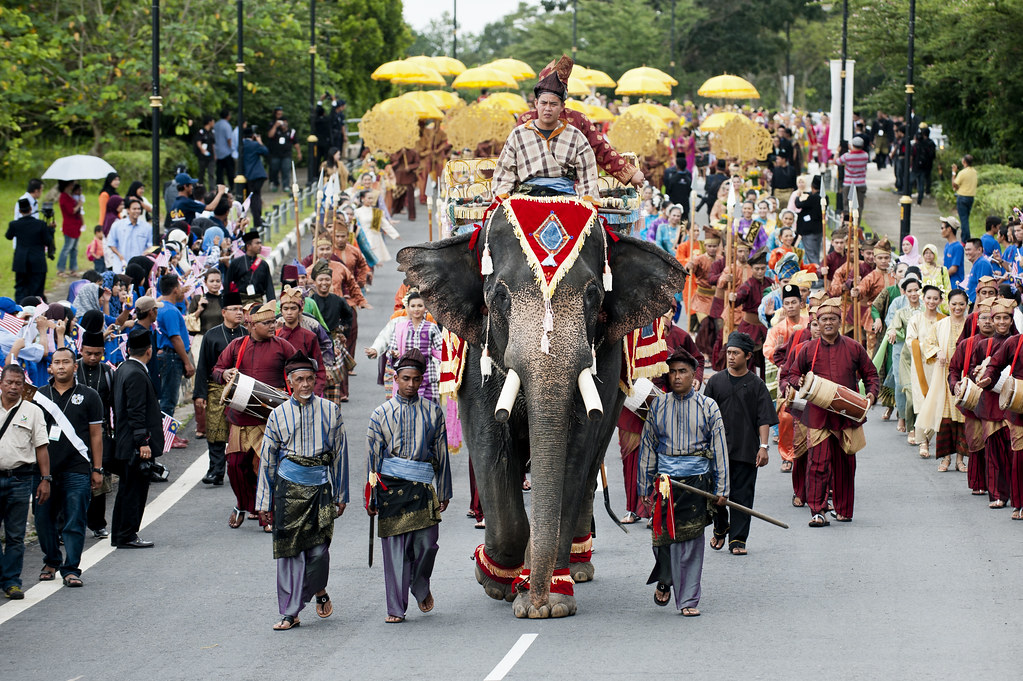 Image result for Malay Sultan on Elephant