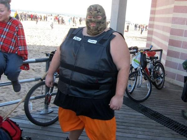 Coney Island Polar Bear Club New Year's Day Swim 2012: On the boardwalk, Pun Prospect