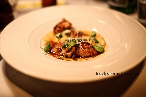 Veal sweatbreads with pasta and mushrooms @ Pendolino