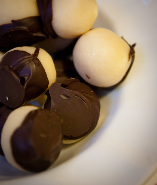 Chocolate-dipped Marzipan