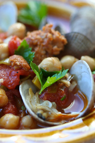 Clams with Chorizo and Chickpeas 3