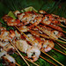 seafood skewers with salsa verde
