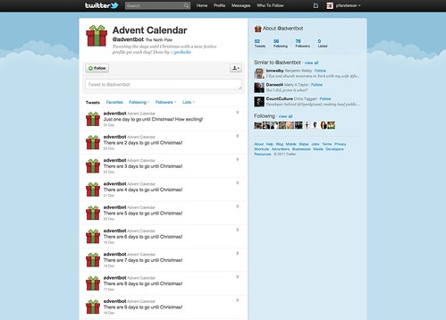 Twitter Advent Calendar: Day 5: Badvent & Bot