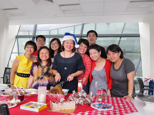 Christmas celebration with office peeps