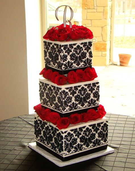 Damask Buttercream Wedding Cake Flickr Photo Sharing