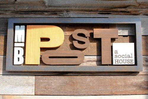 MB post signage