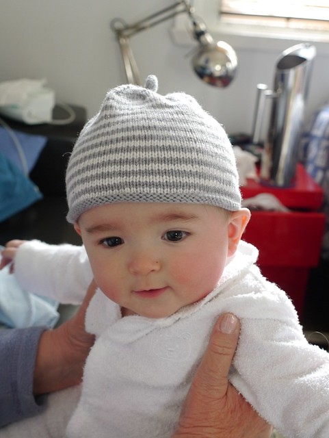 In a Hat Mummy Knitted for Me.