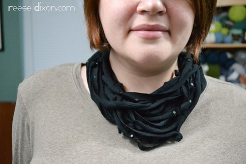 Shredded Scarf Necklace