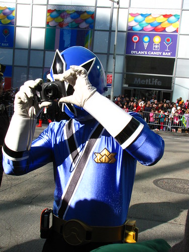 Power Ranger Blue at 85th Macy's Thanksgiving Parade