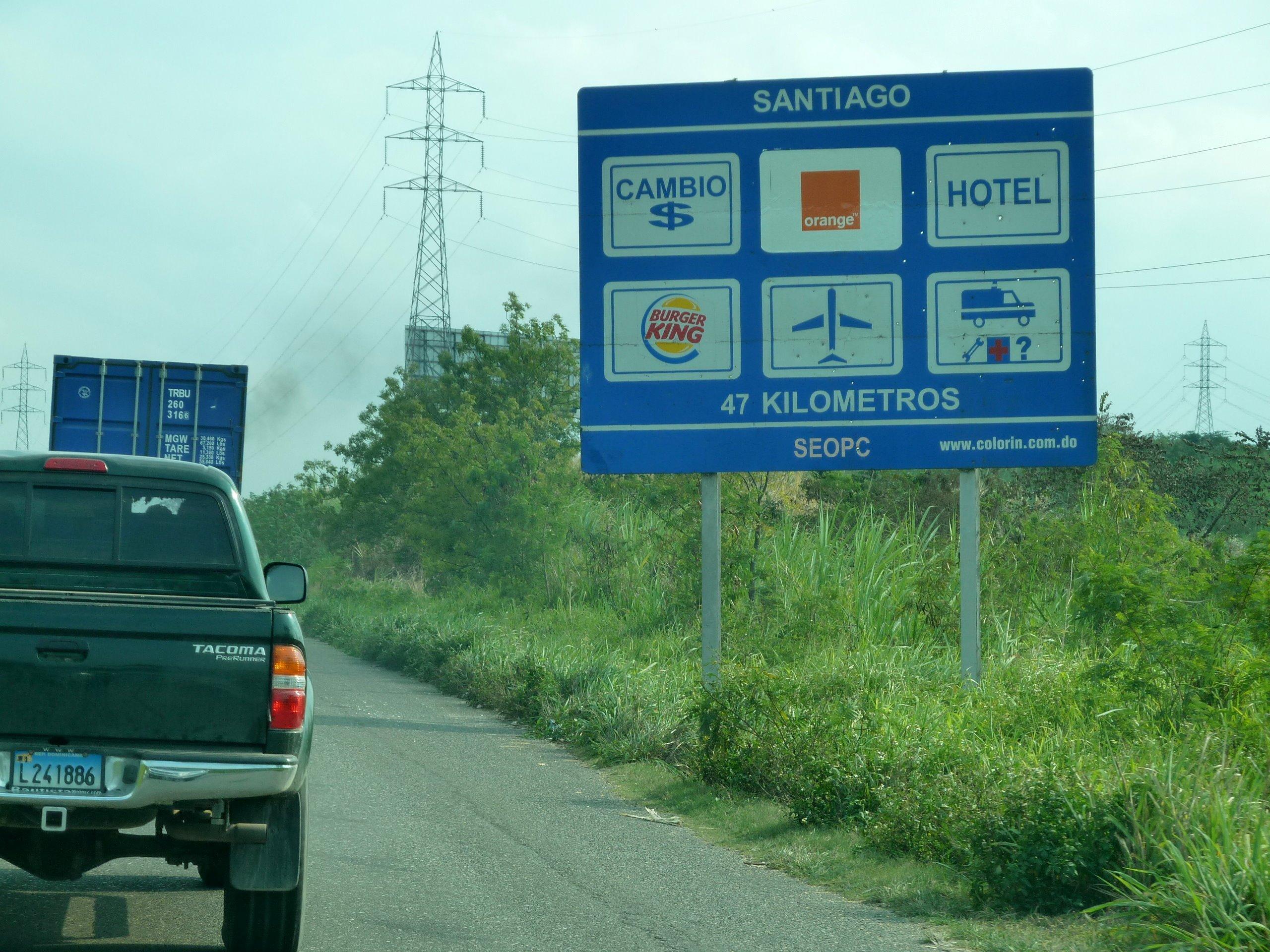 Dominican Republic road sign