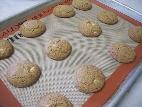 soft gingersnap cookies with white chocolate chips | miki ...
