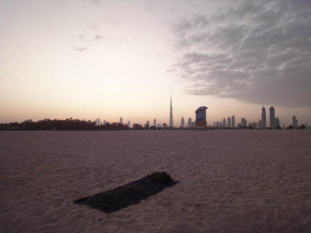 A minha cama na praia Jumeirah no Dubai, EAU