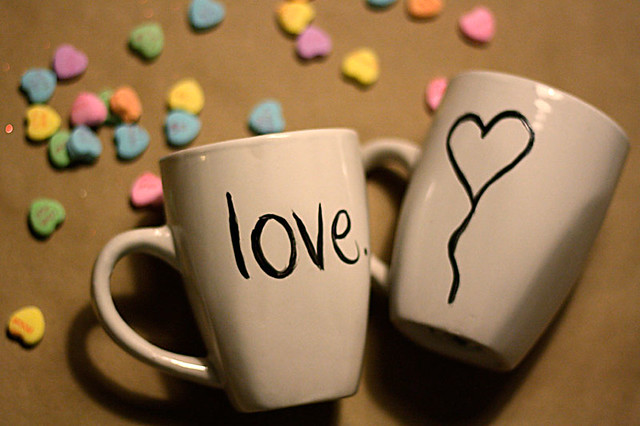 DIY Hand-Painted Valentine Mugs
