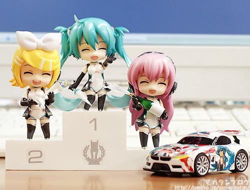 Nendoroid Petit Racing Miku, Rin, and Luka (2011 version)