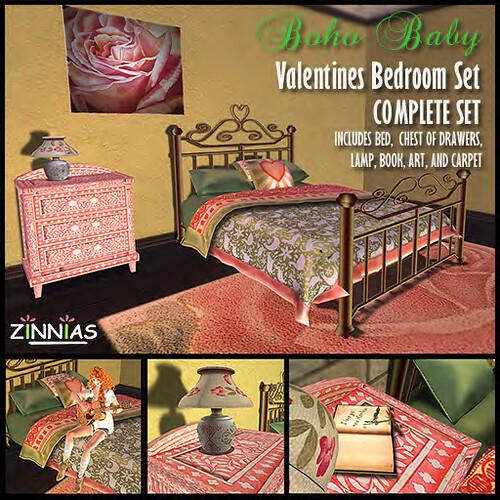 promo Zinnias Boho Baby Valentine Bedroom set