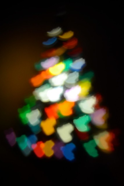 Heart bokeh tree
