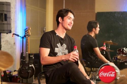 Rico Blanco and Amber Davis at Coke Music Studio - 1