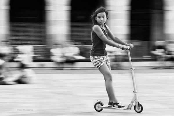 kick scooter panning, bilbao