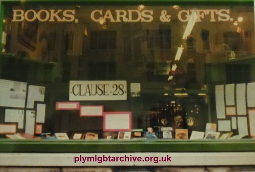 In Other Words - Clause-28 Window Display 1988 by Pride in Our Past