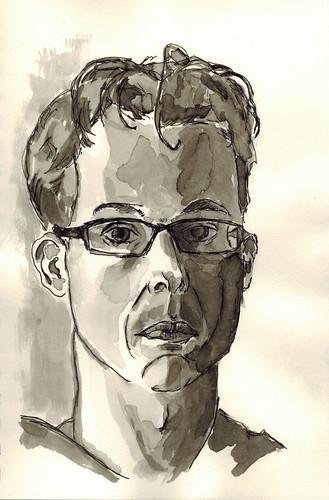 Erik van Elven - ink-wash by husdant
