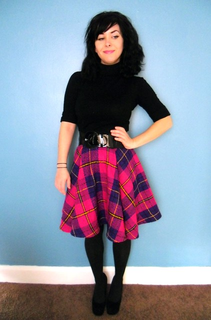 plaid circle skirt