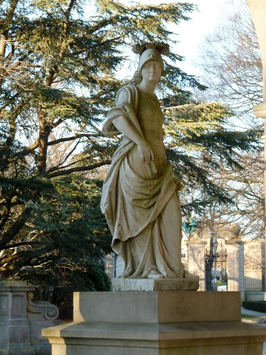 Statue in Entrance Portico
