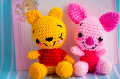 ♥winking winnie the pooh and piglet ♥