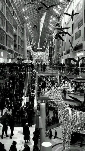 Eaton Centre Christmas Chaos by Jamaalism