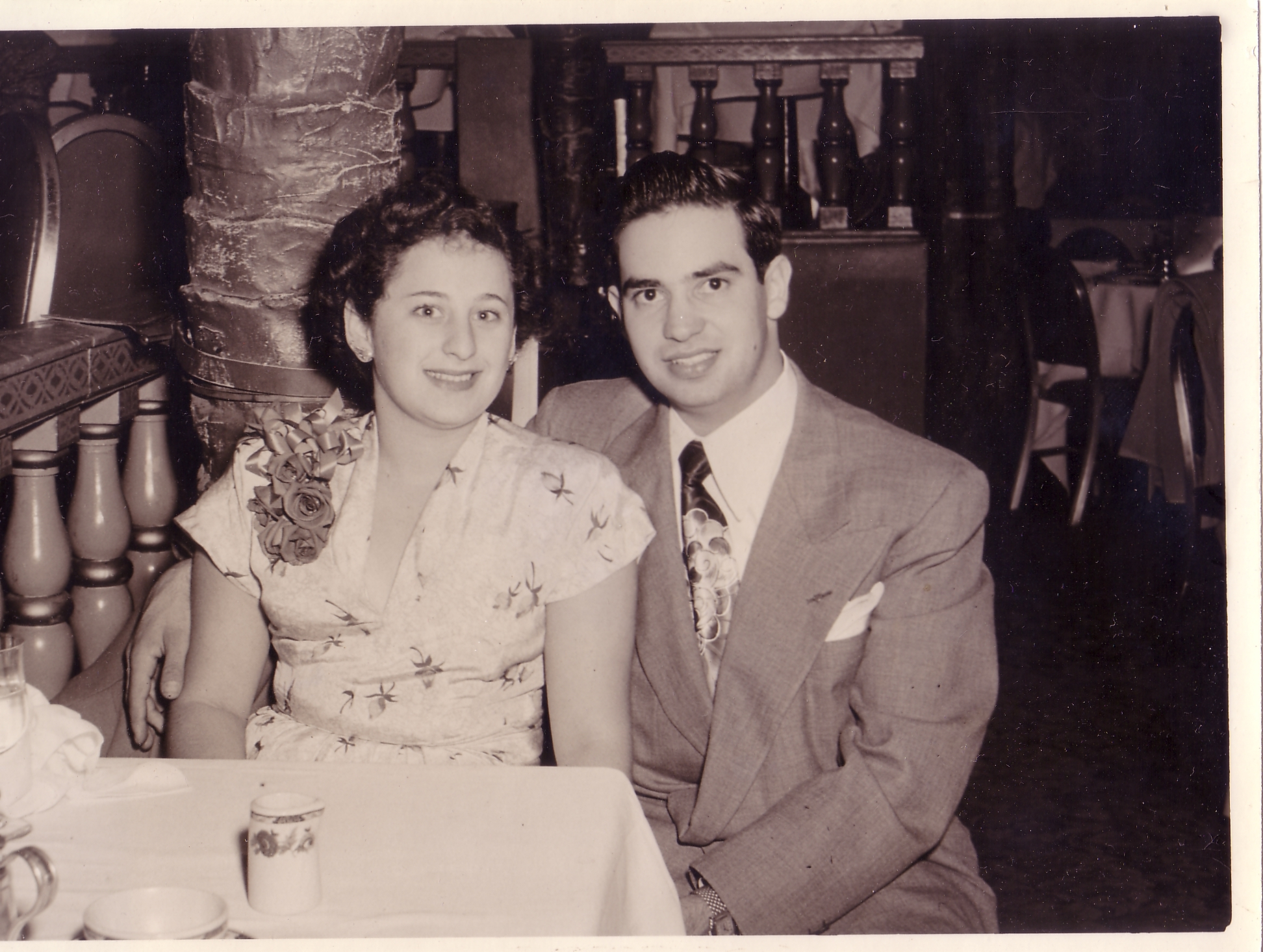 Mom and Dad  dating at Coconut Grove Sept 30, 1949