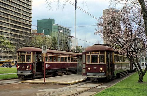 Glenelg Trams 375 / 377 and 361 / 373