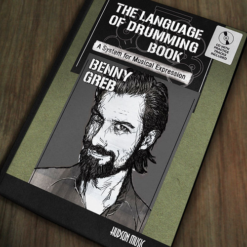 """Cover Artwork of Benny Greb's """"The Language of Drumming Book"""" made by Tom Mayer, Meza Boogie. Published by Hudson Music New York. (c)2012 Tom Mayer, All Rights Reserved"""