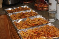 Baked Rigatoni Pasta Freezer Meal (In Pans)