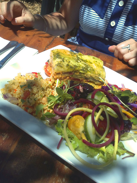 Raw lasagne from Swan Valley Cafe