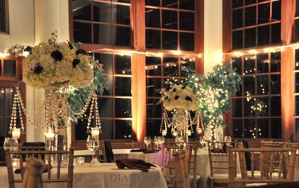 Wedding reception at night at Raspberry Plain