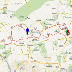 14. Bike Route Map. Princeton NJ