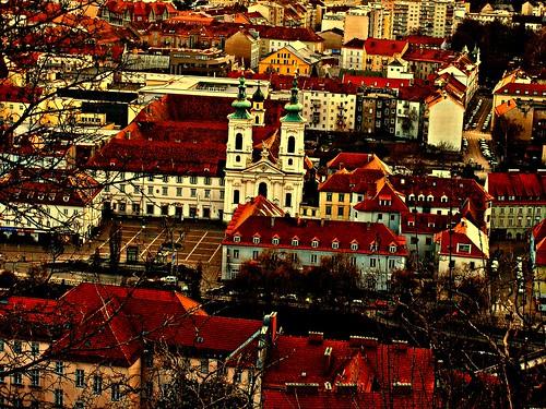 Graz, Styria, Mariahilf (Maria-Salvataggio, María-Socorro, Marie-Secours, Mary-Help (rescue)) (ratunek) Basilika (Wallfahrtskirche – sanctuaire, sanctuary, santuario)